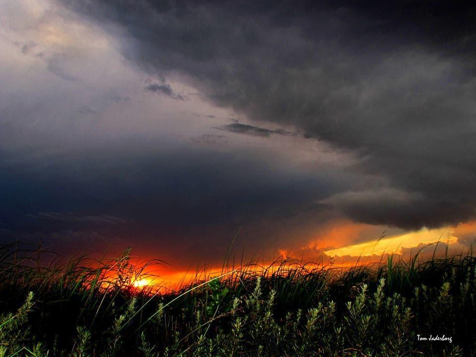 Kansas clouds at sunset.