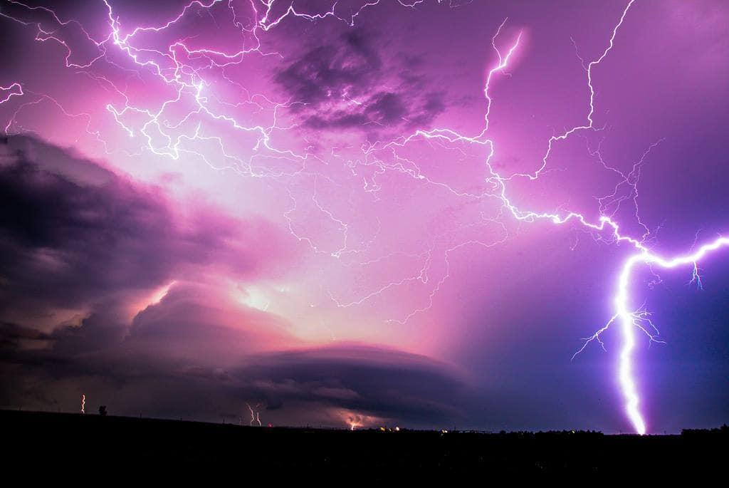 1.21 Nebraska Giggawatts! May 4, 2012 6 Stacked images, Tornado warned cell, northern Buffalo County Nebraska!