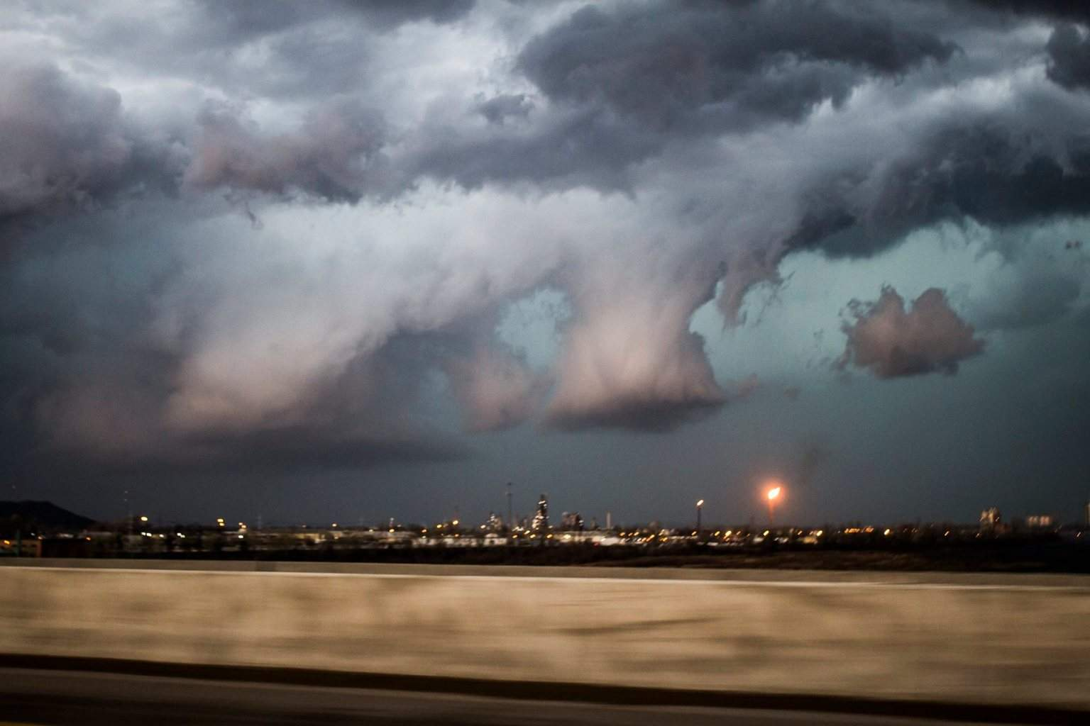 Here's one I thought reminded me of the end of the World. Taken in Tulsa.Here's one I thought reminded me of the end of the World. Taken in Tulsa.