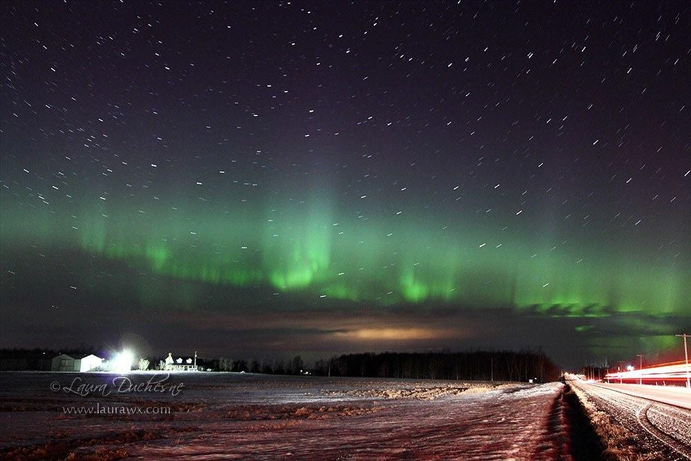 St. Patrick's Day aurora near Listowel, Ontario.