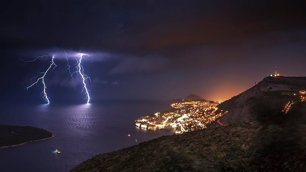 Lighting summer in Dubrovnik
