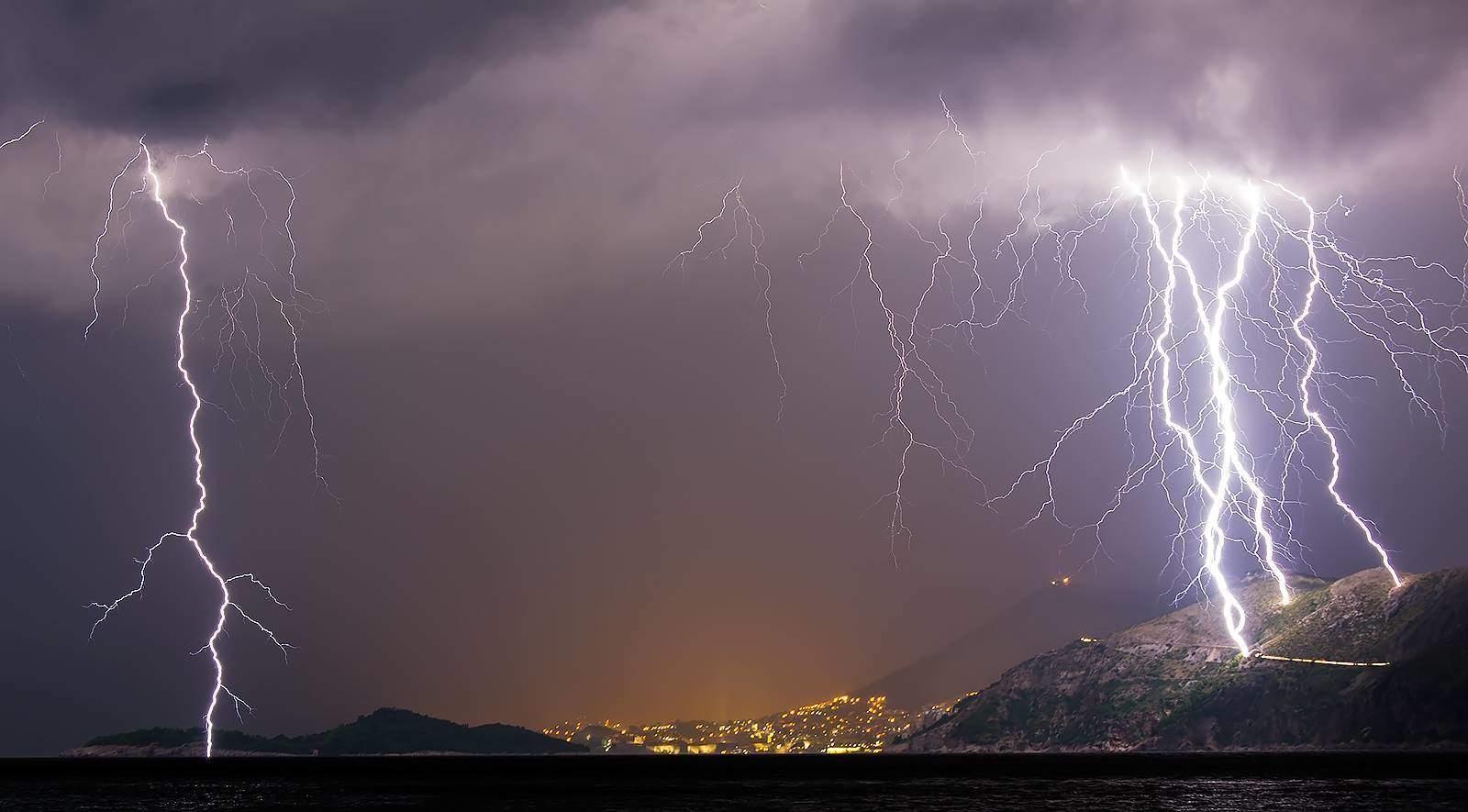 Crazy summer storm here in Dubrovnik last summer....24.08.2014. one exposure 30 sec....