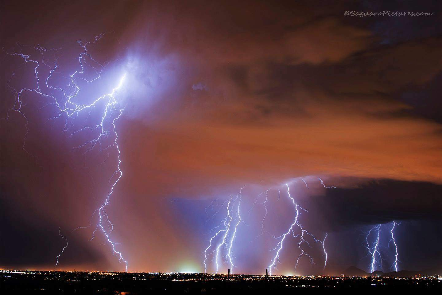 The last big storm of the year in Southern Arizona - and what a night it was. We all thought the storm season was over when out of nowhere this storm hit Tucson on the night of September 12, 2014.