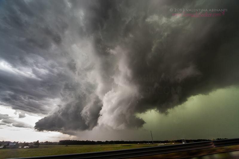 HP supercell hail core, Cislago (VA), Italy. July 29th 2013.