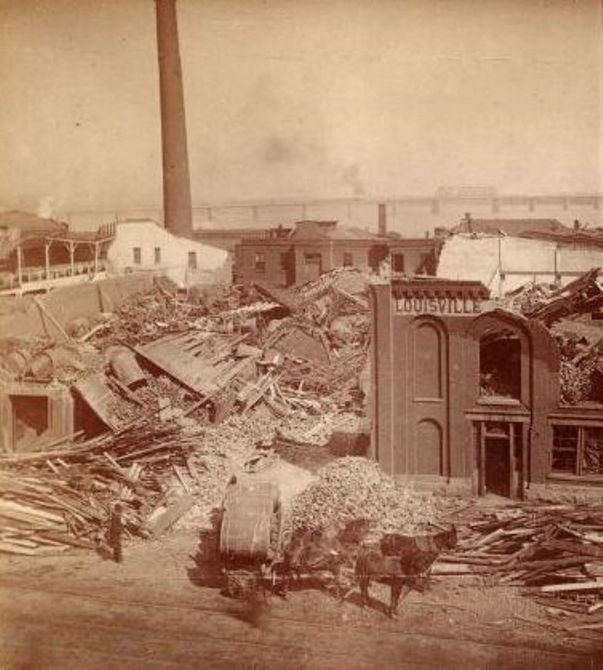 Destruction in Louisville Along Main Street Between Eleventh and Twelfth Streets