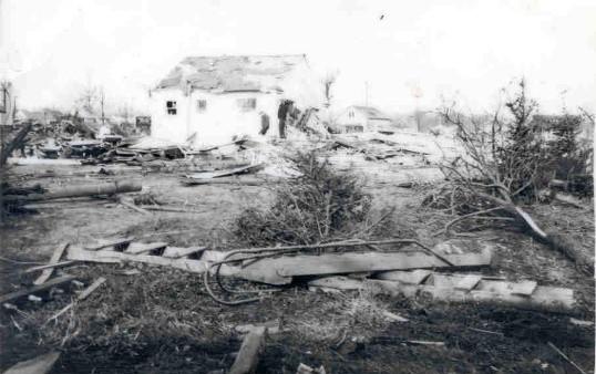 Goshen County Indiana tornado damage. (NWS)