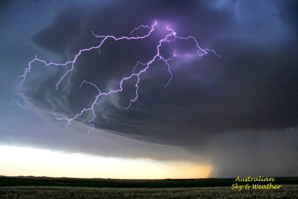 ....the former Liberal supercell has migrated to near Gate Oklahoma and evolves to a HP supercell, the storm becomes intensely lightning active with stupendous bolts almost striking around us every second...! 3rd June 2013 Photo: Jane ONeill (handheld)