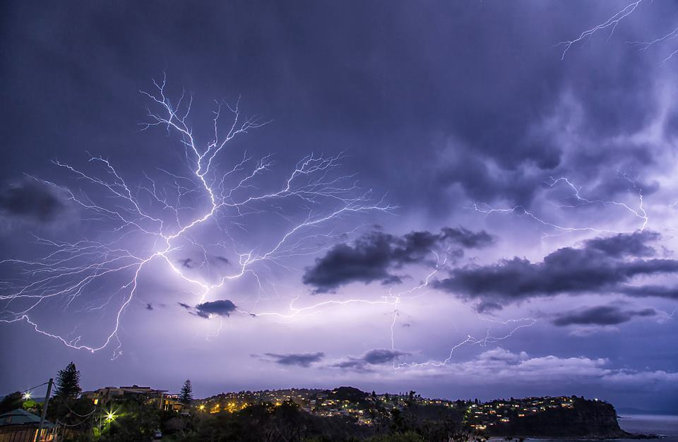Storm over Sydney Australia about 2 hours ago