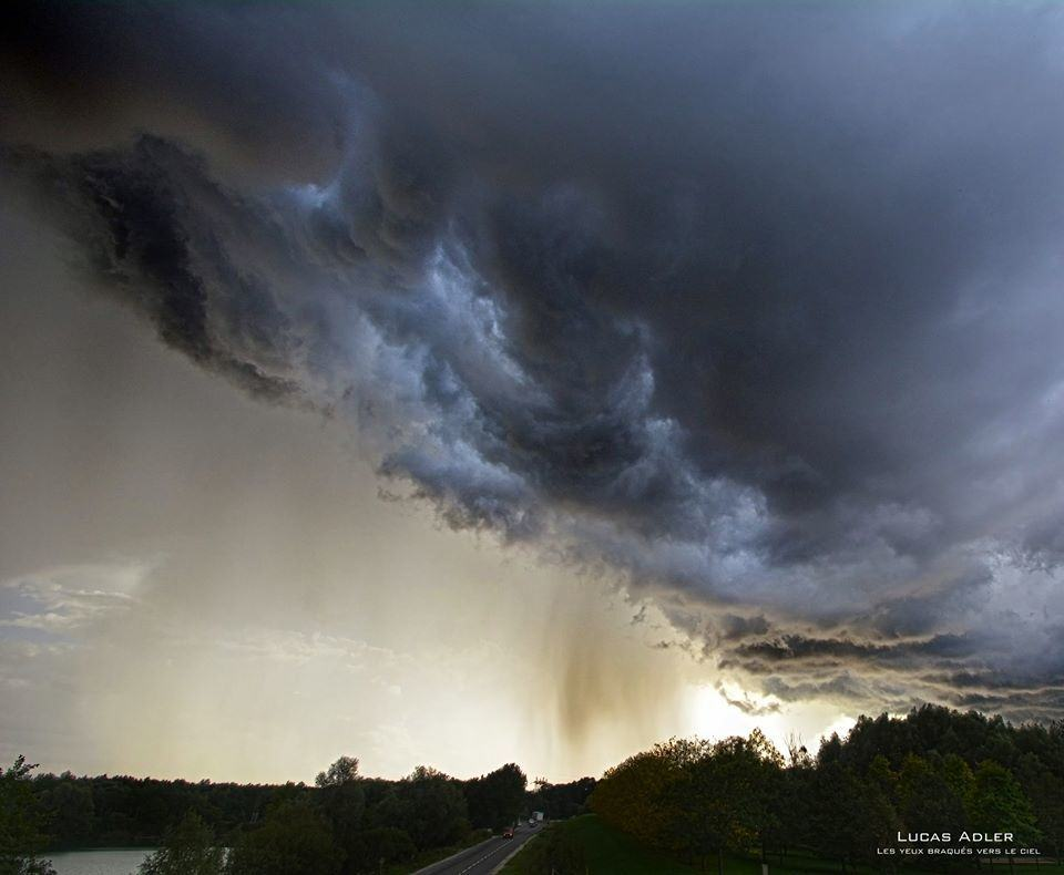 Mind blowing sunset gust front near Belfort, France in september last year