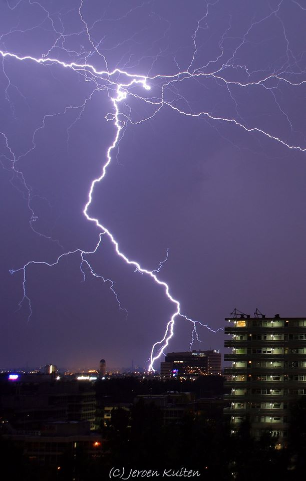 This is why i take pictures of lightning. Love the power of it. August 1st 2012 Zoetermeer the Netherlands.