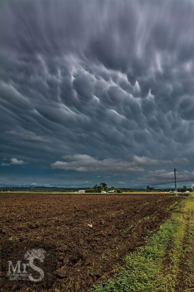 A stunning mammatus cloud display over Laidley Queensland Australia yesterday. It lasted a solid hour and then the lightning active cell arrived.