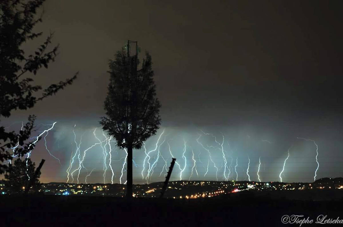 Lightning in Pretoria, South Africa.