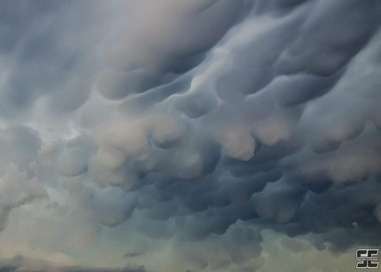 Close up view of the jaw-dropping mammatus with approaching tornadic supercells near Norman back on March 25th.