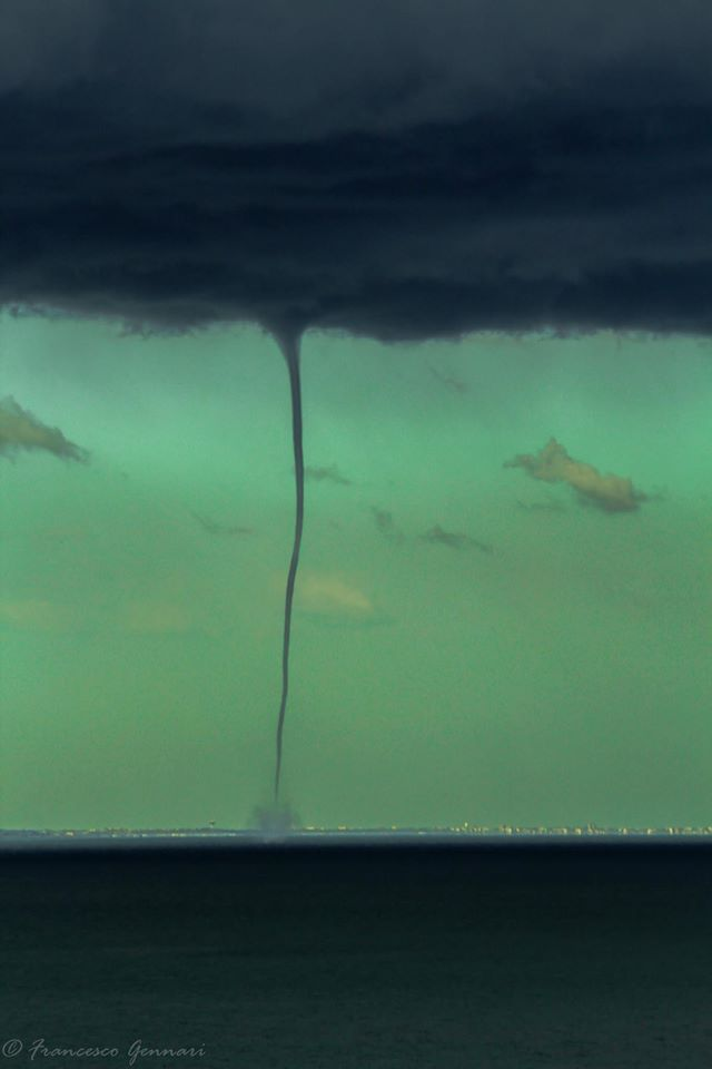 Waterspout in Rimini, Italy. October 23th 2014