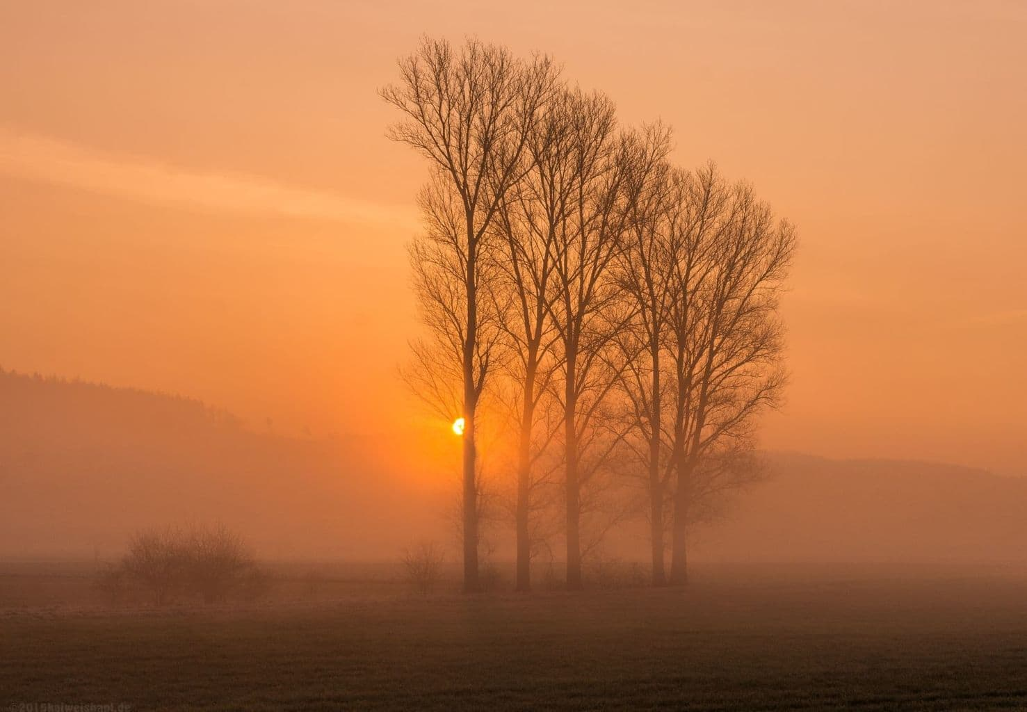 Foggy Sunrise in middle of Germany 19.03.2015