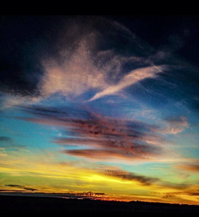 Colorful skies, 3-2015 North Carolina