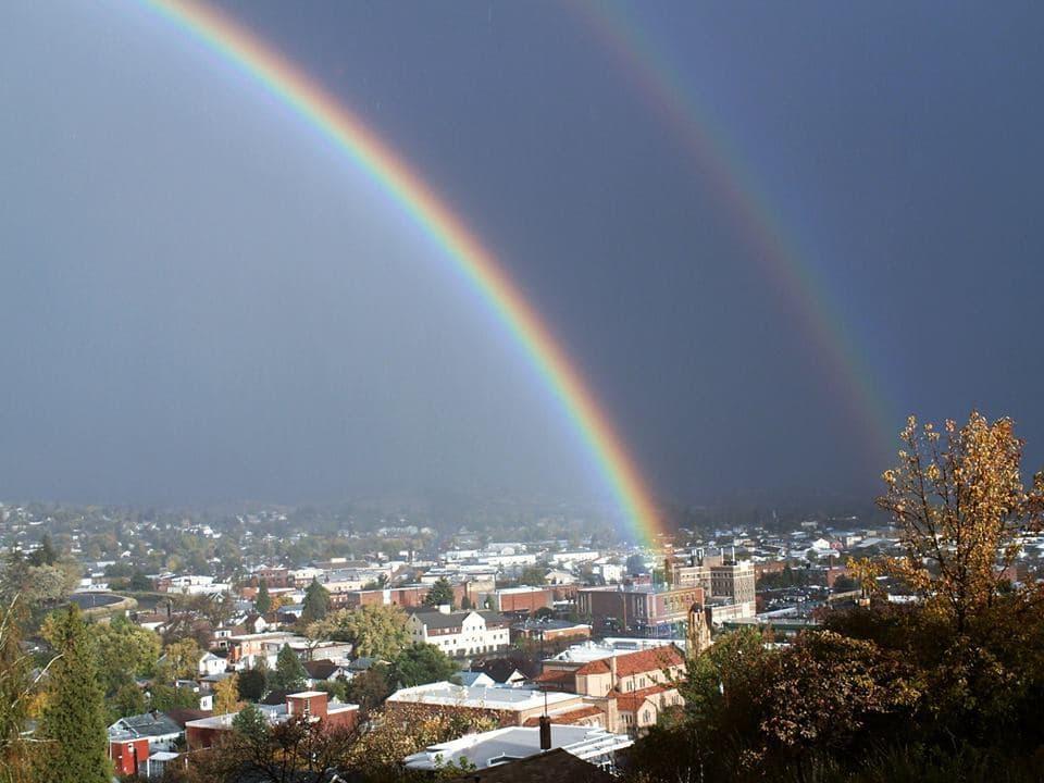 Double Rainbow. Taken on 10/25/2014 Klamath Falls, Oregon.