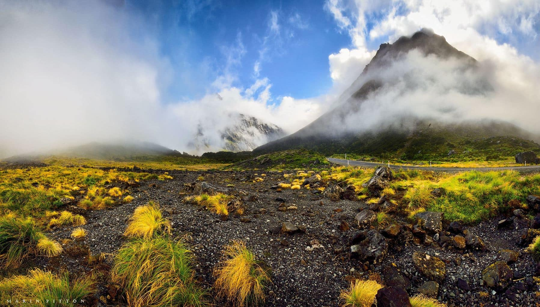 Greetings from New Zeakand - south island This is taken few days ago on our way to national park Milford sound.. we where surrounded by low clouds in early morning.. what an amazing view was that...for a lifetime memory..
