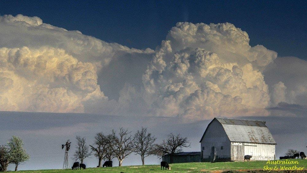 Even 85 miles away the structure of these storms is stunning!!! Looking in Arkansas from Miami, OK. 24th March, 2015
