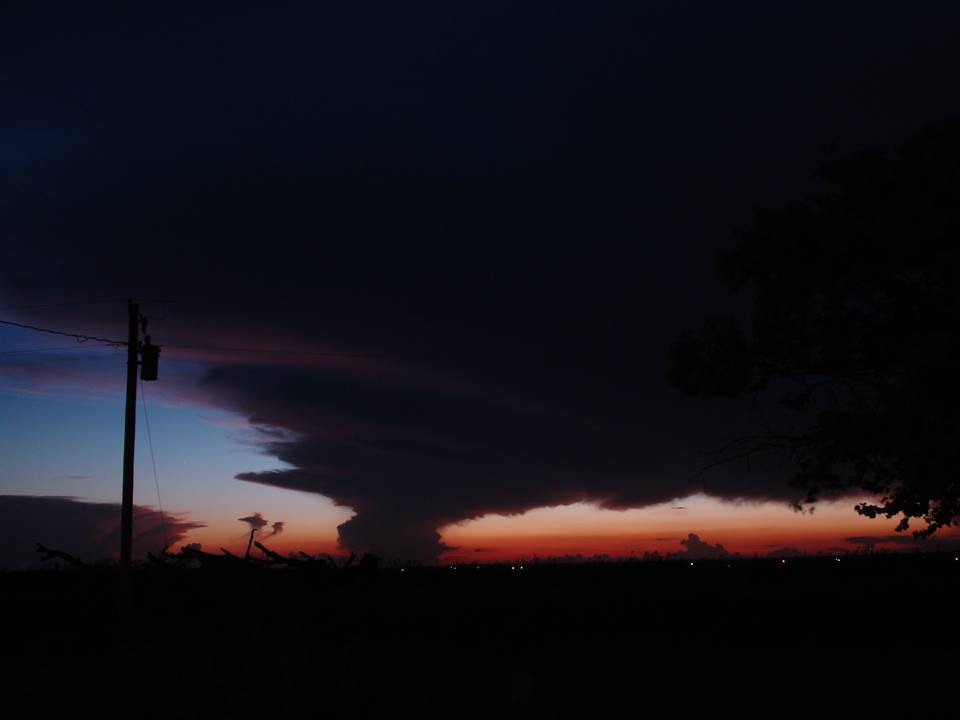 Blair, Oklahoma; Post-thunderstorm