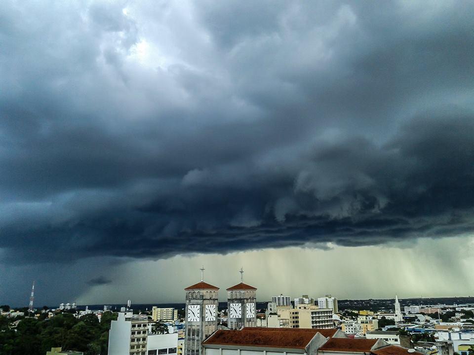 Storm over Cuiabá City, MT - Brazil. 03/12/2015