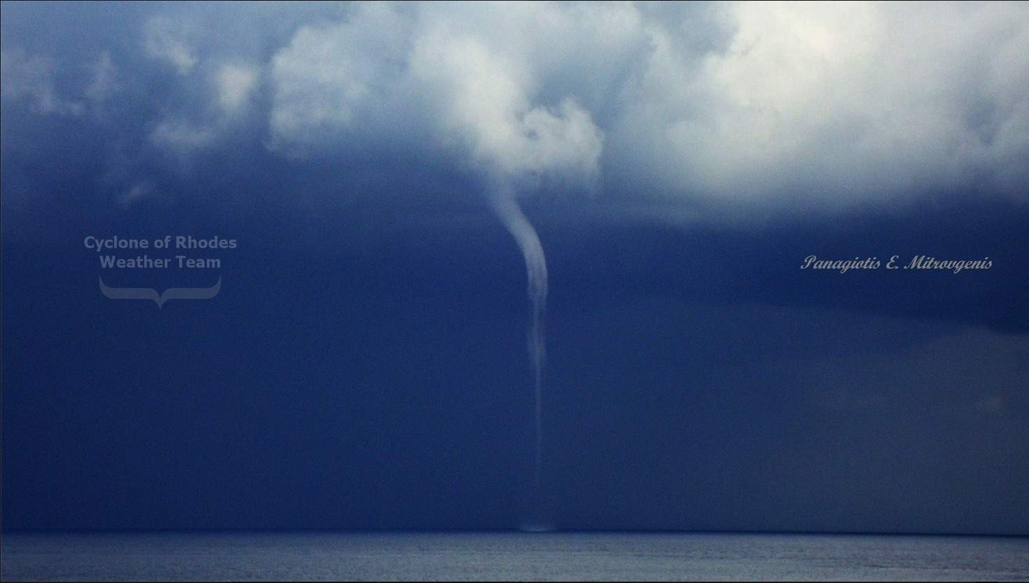 double waterspout in Rhodes island 14-2-2015