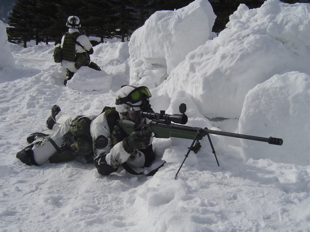 Sniper in the snow