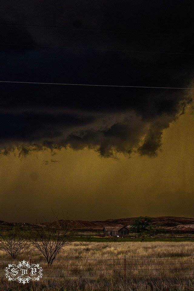 """Little House On The Prairie""  4-16-15... Shamrock, TX... As The Shelf Cloud Moved Closer Over My Location I Saw This Old House In A FIeld... The Yellow Is Natural... Zero Editing... Enjoy..."