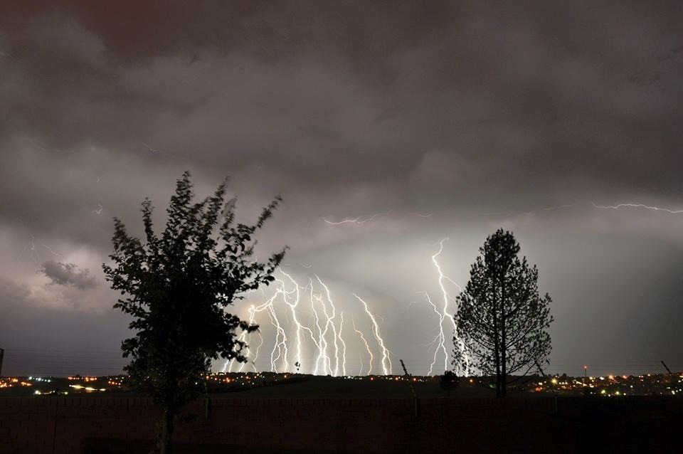 Awesome lightning in Pretoria, South Africa.