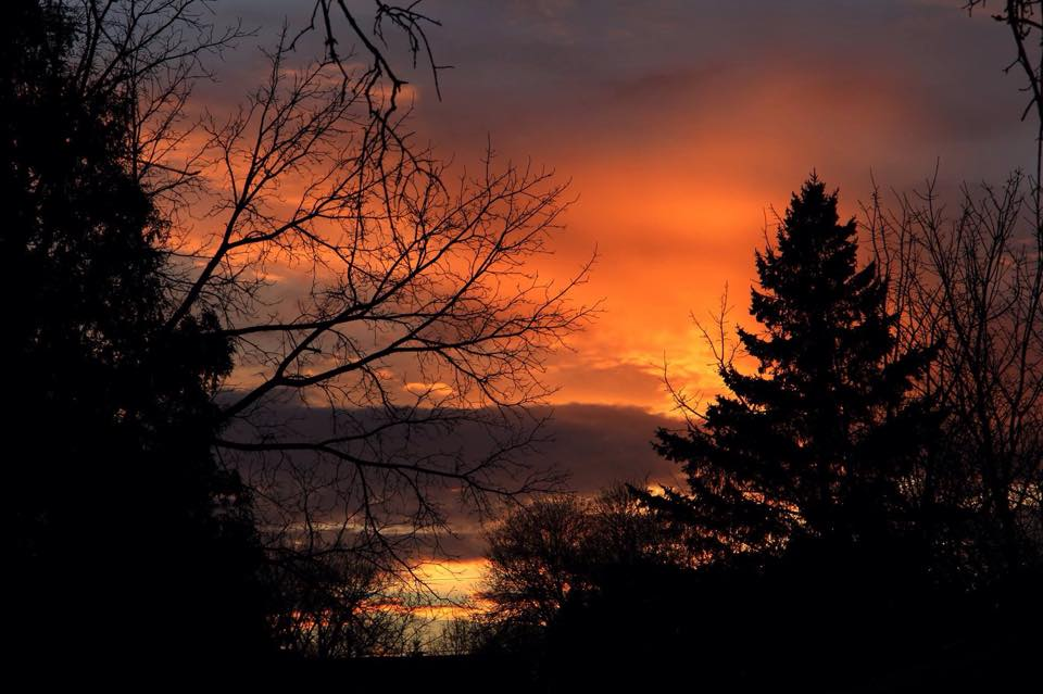 Sunset last night, 4/15/15 in Woodbury, MN. Taken from my front yard.