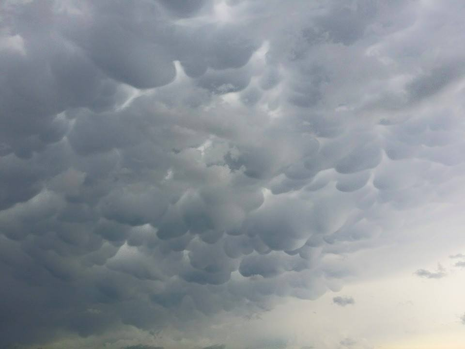Beautiful mammatus near McLean Texas about 30 minutes ago