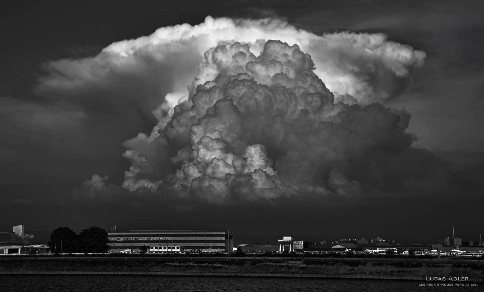 Convective eruption above the Black Forest (Germany) June 2014