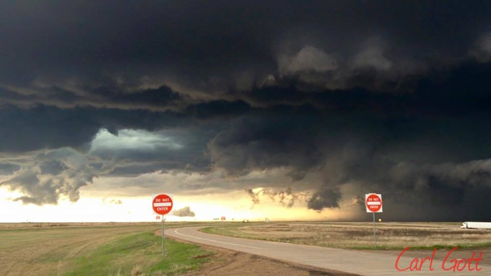 4-16-15 Texas storm chase. Pictures where taken between Amarillo and wheeler. I love this picture especially with the do not enter signs!!! I think it speaks volumes!!!