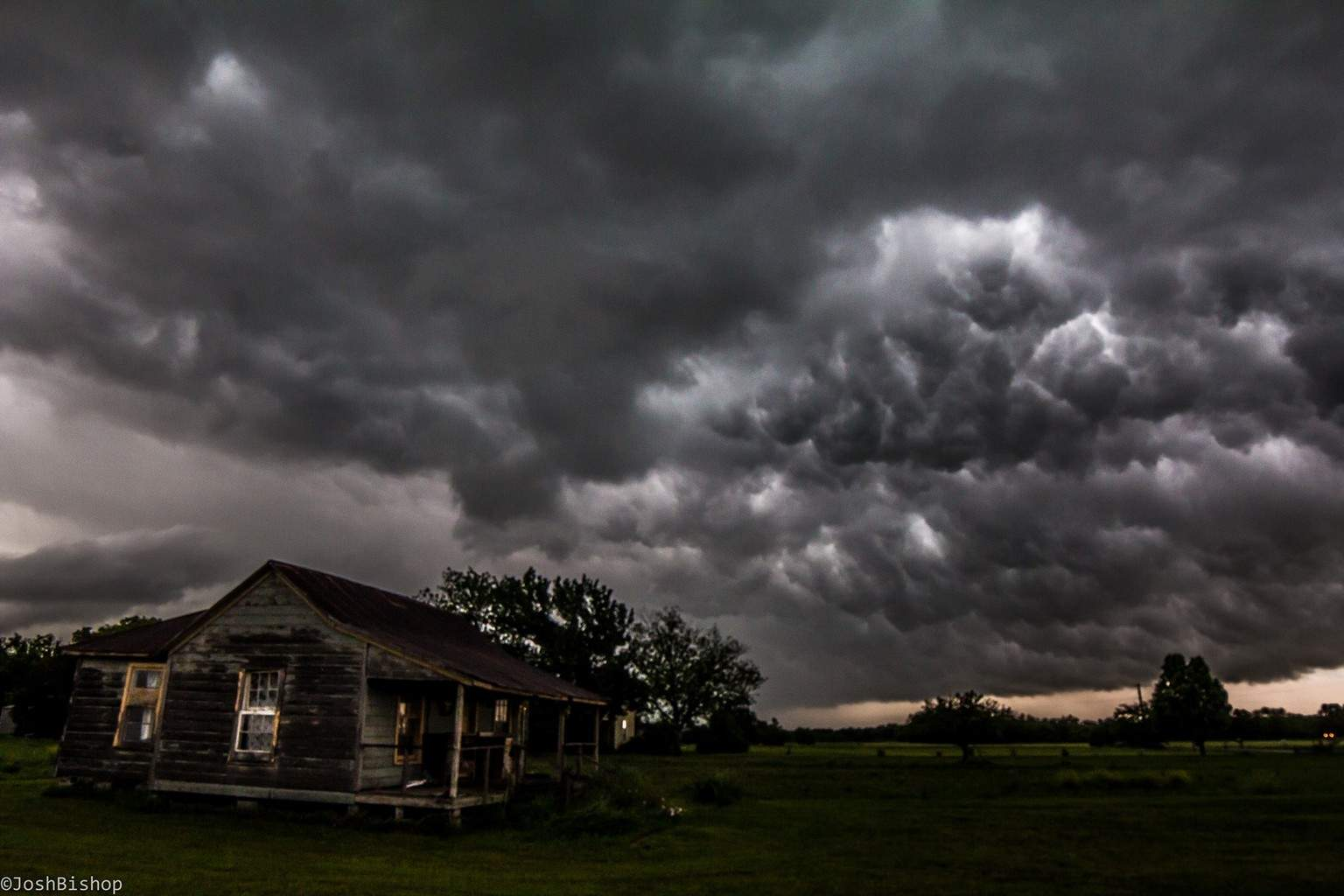 South of DFW/Alvarado Today 4.24.2015. Out ran a tornado warned storm and went south. Turned around after it was a little safer and came across this. Shot with Canon 60d and Rokinon 14mm. Was very dark when I took the shot so it's a little grainy.
