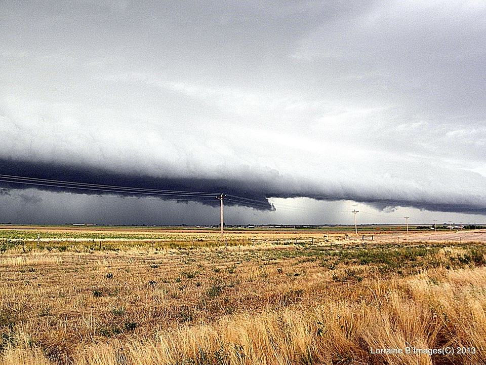 I believe this is a shelf cloud, from what Im learning on here. I love to take pictures of clouds and would love to learn the names of the different clouds. So yes I am studying the images that have descriptions with them that are posted. LOL