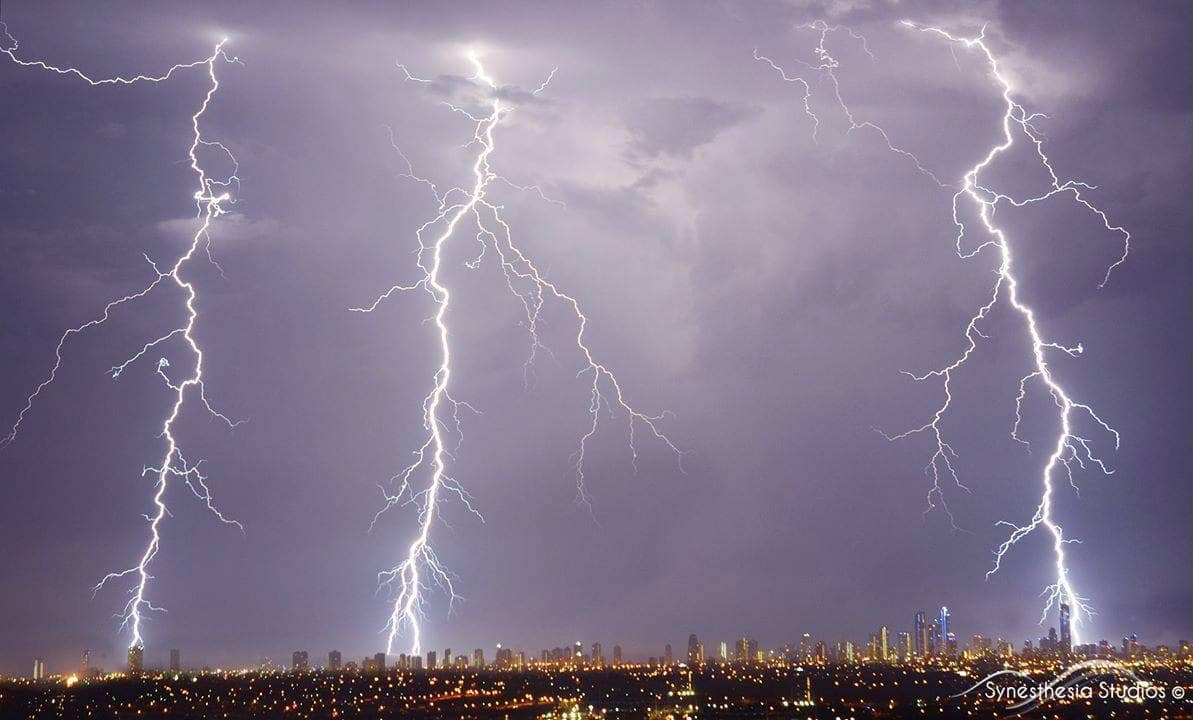 Beautiful late night storm on the Gold Coast Australia. . Taken in early Dec 2014