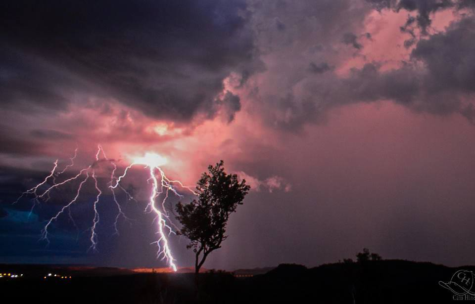 December 2012 in Mount Isa. This is in the desert region of Northwest Australia. Some of the best lightning in the country occurs during storm season around this area!