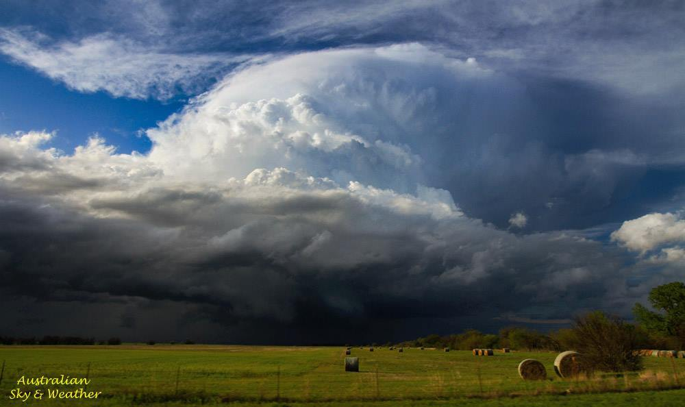 Hectic day today chasing in south central Kansas and northern Oklahoma....intercepted a number of strong storms, by far though this was the best one...This supercell approaching Caldwell, KS produced long term rotation, funnels and large hail.. 18th April, 2015