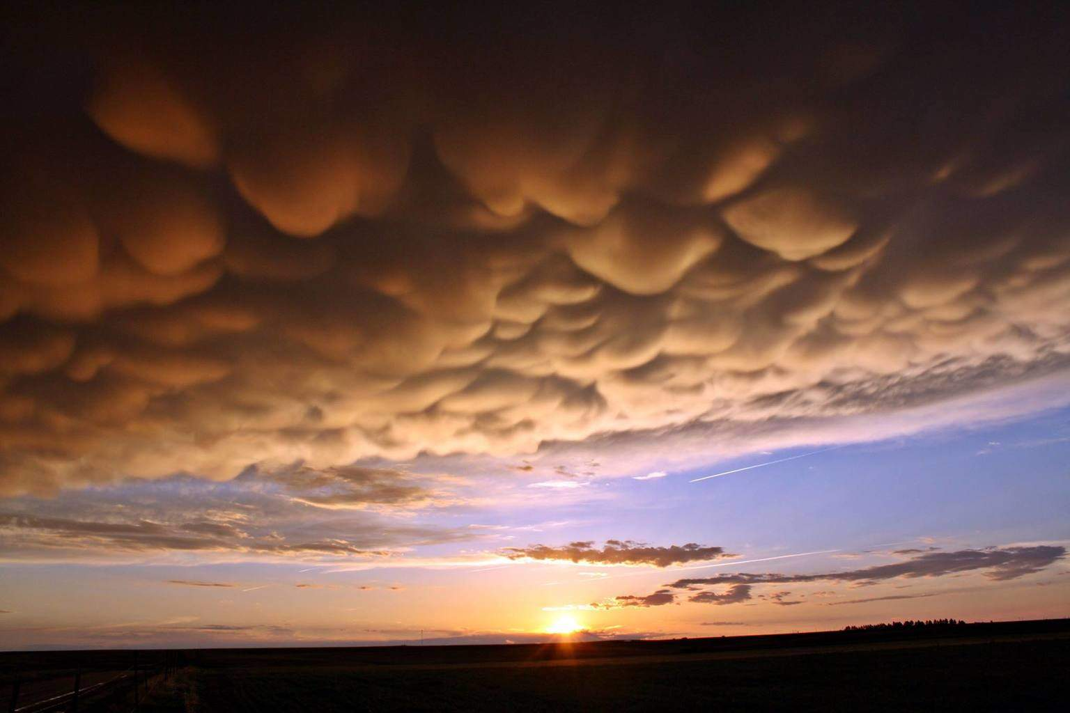 This is my favorite mammatus shot dated 11 May, 2013, taken out near Flagler, CO.