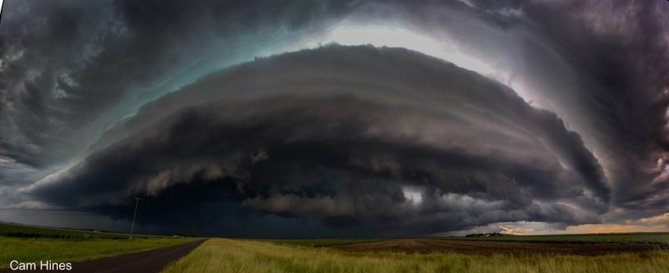 From Australia Day this year near Pittsworth, Australia. This is 4 photos stitched together into a pano..  Cricket ball sized hail was reported from this storm along with some minor roof damage to a couple of farms.