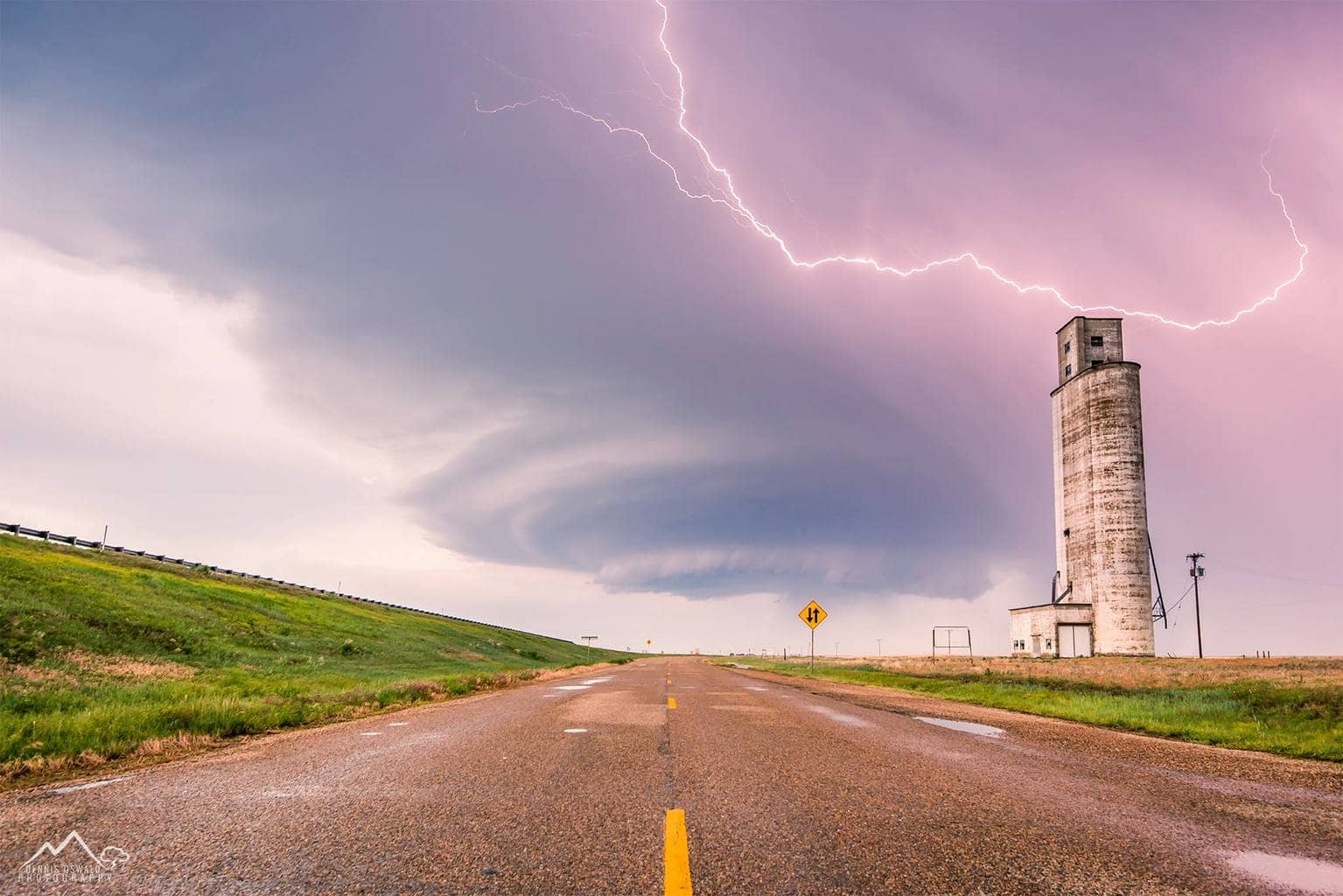 Vega,TX May 21st 2012. A mothership supercell is crossing I-40.  Lightning is frequent and the hail is not far away. This beauty moved very slow which allowed us to chase this storm in a relaxed way and we enjoyed it with only a few chasers out there.