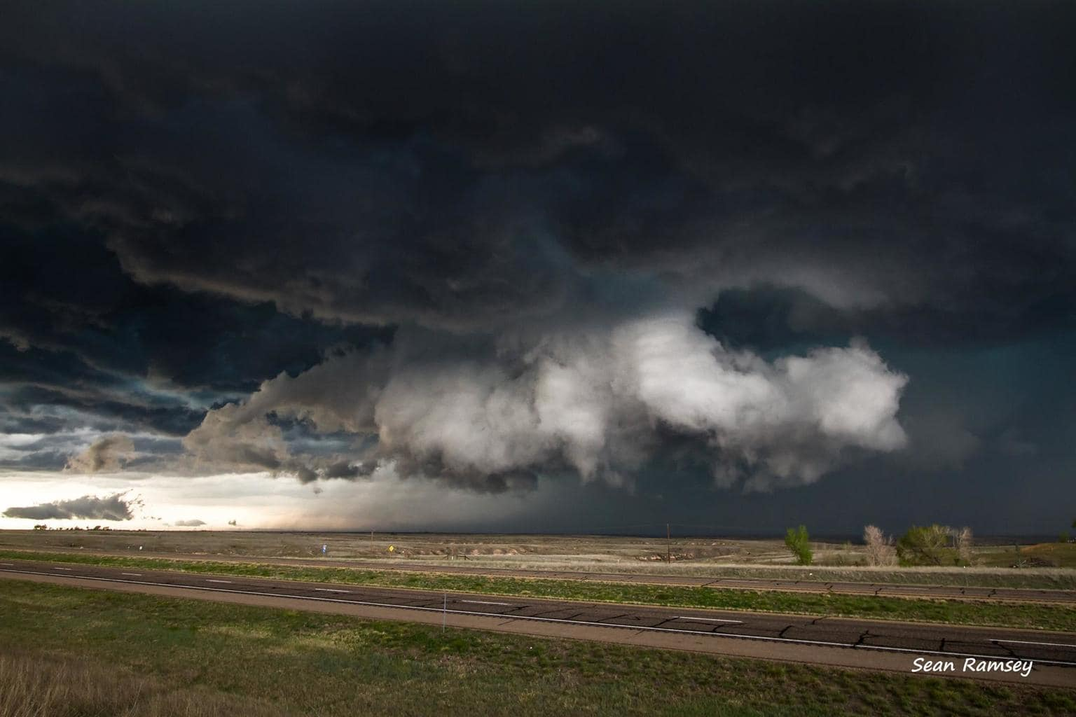 Along I-40 in the Texas Panhandle on April 16th.
