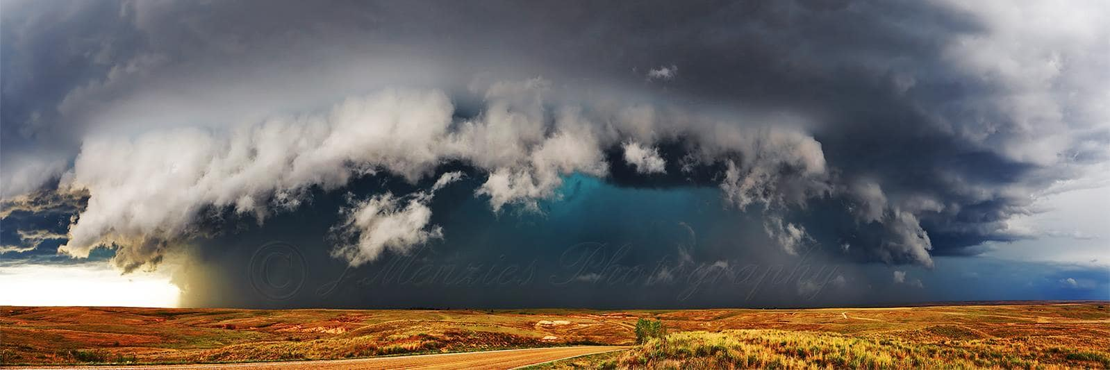 A monster supercell roams over the Texas Panhandle on April 16th 2015 just north of Alanreed, TX on FM291. This storm produced multiple tornadoes during its lifespan.