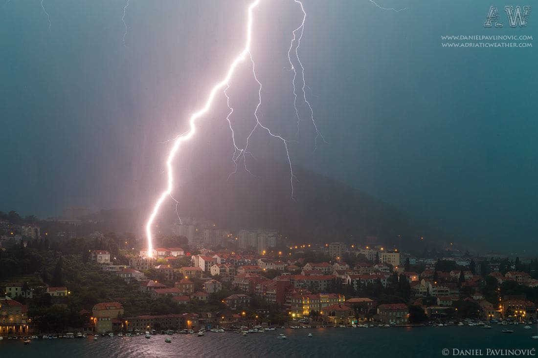 Severe thunderstorm in Dubrovnik, Croatia. 15 Jun 2014.