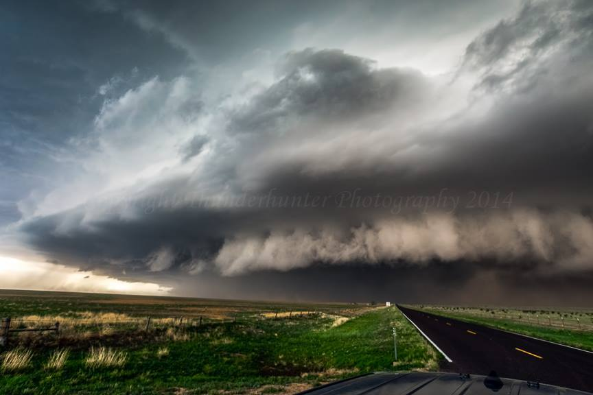 This enormous supercell lasted well into the night and developed an extremely powerful and damaging rear inflow jet that hit Lubbock, Texas with fury. We lost our rear window to flying debris carried by the 80mph+ straightline winds which also caused havoc in the city.