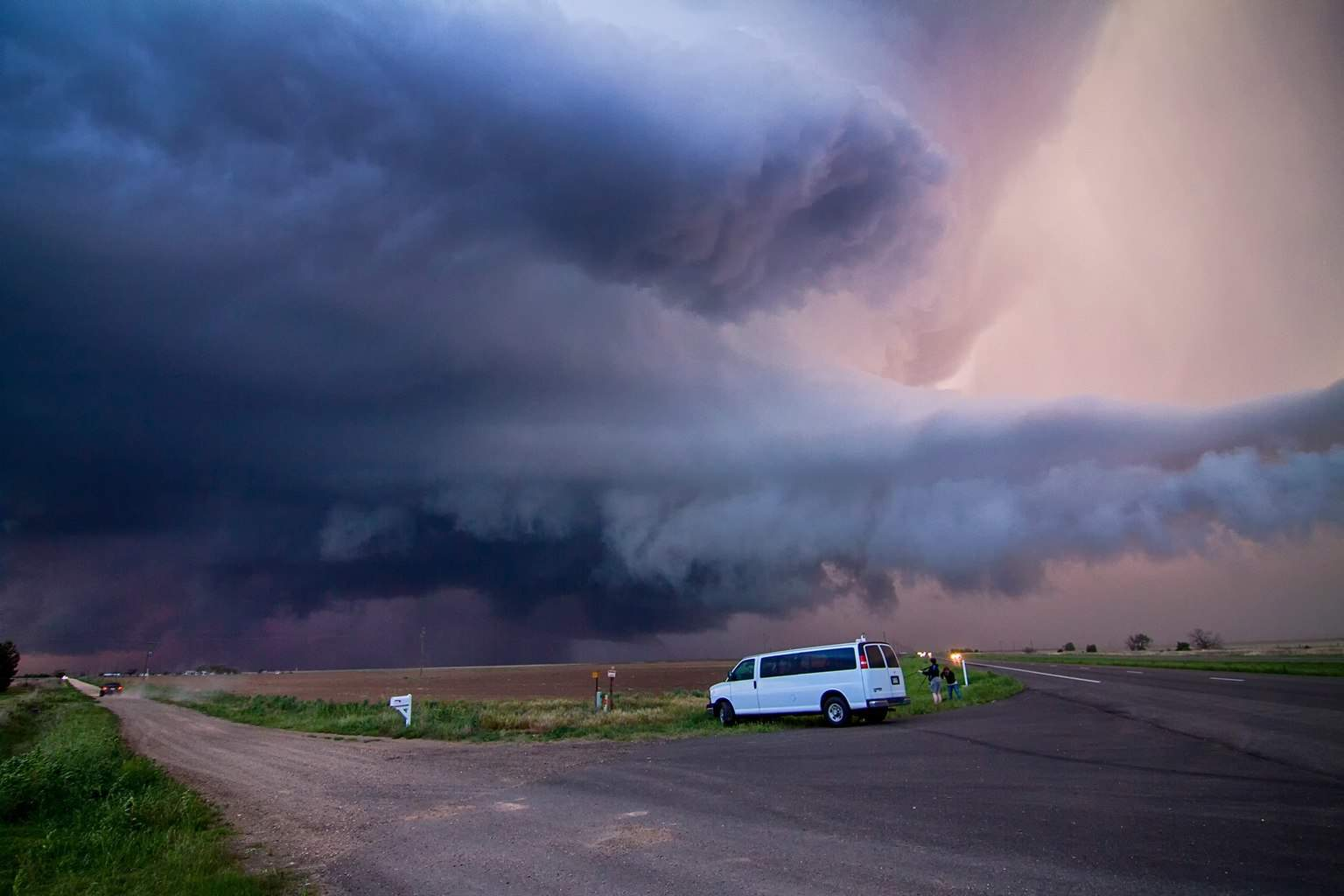 Looking into the beast near Floydada, TX on April 22nd 2015