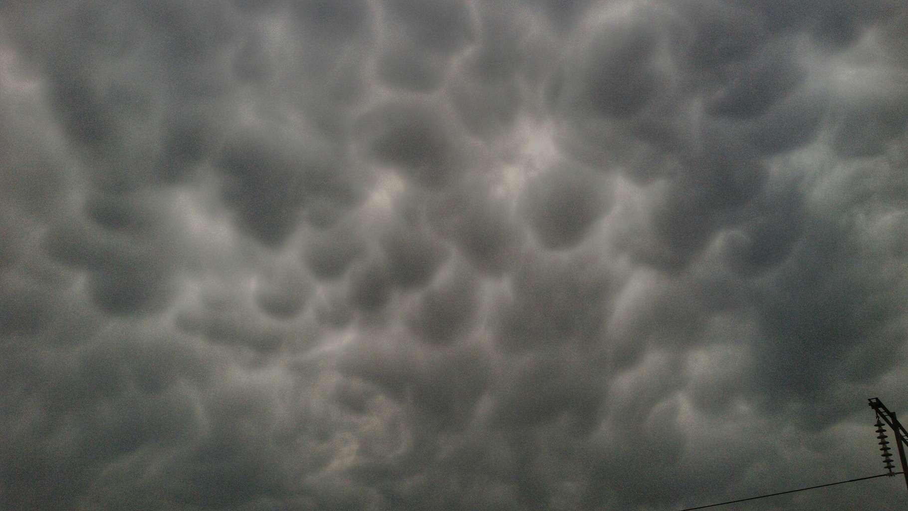 Mammatus Cloud First time in Punjab India