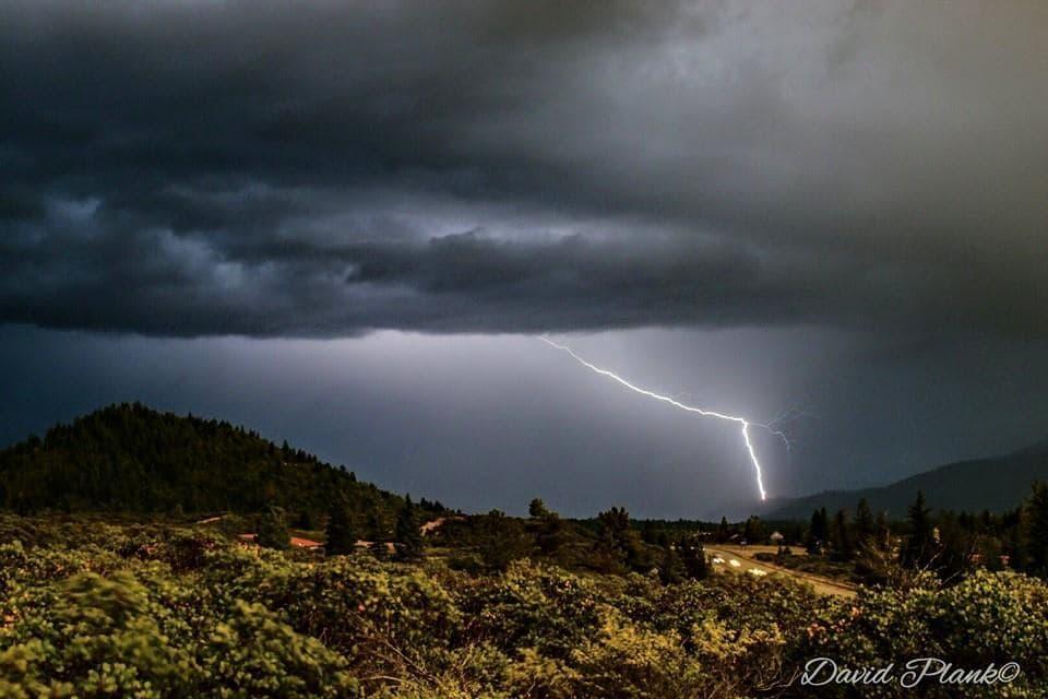 Gotta love a good thunderstorm! Evening of 4- 21-15. Mt. Shasta, California.