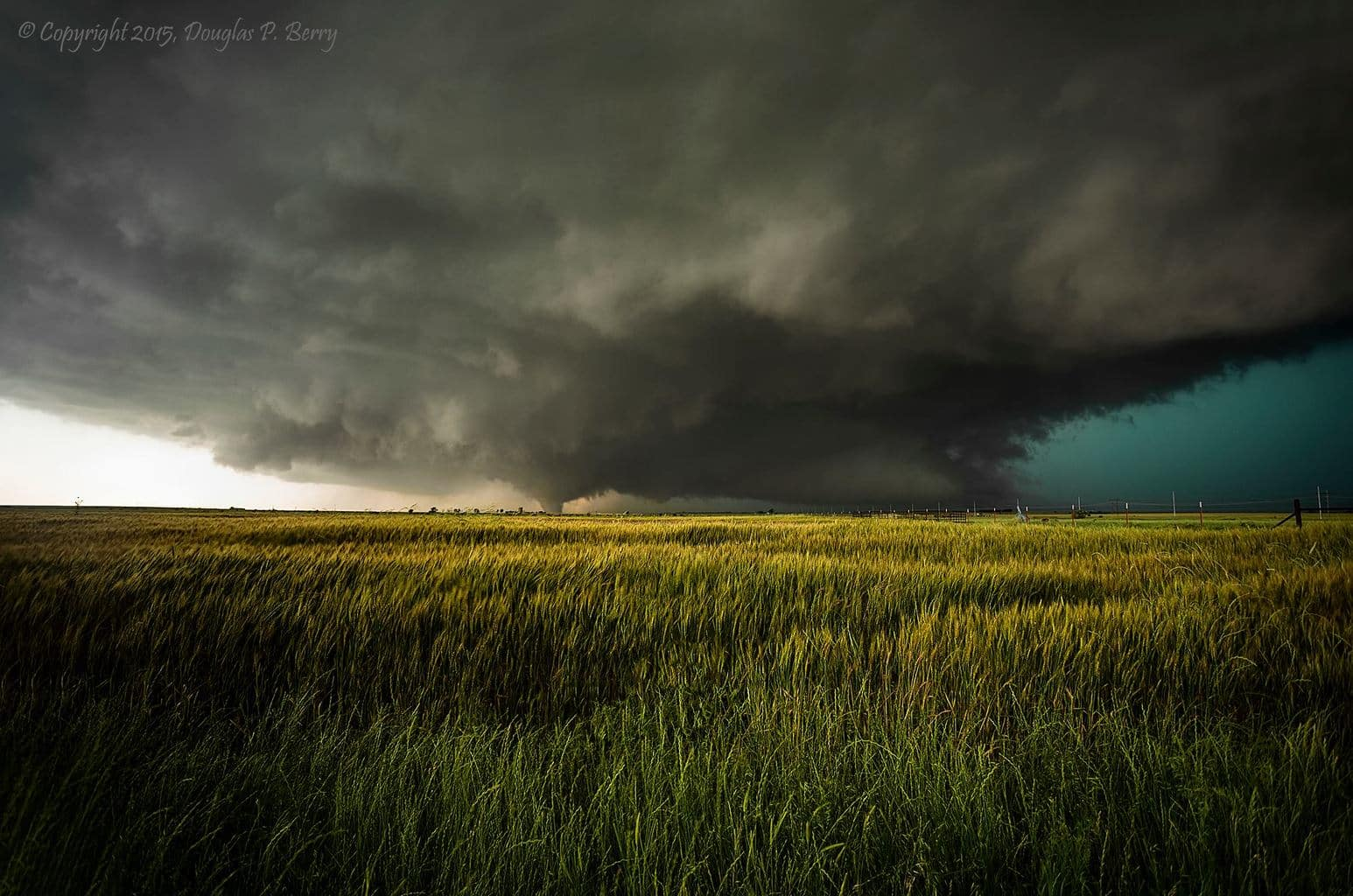 Initial touchdown of the El Reno tornado on May 31, 2013. I had never seen a storm spin so fast in 16 years of chasing.
