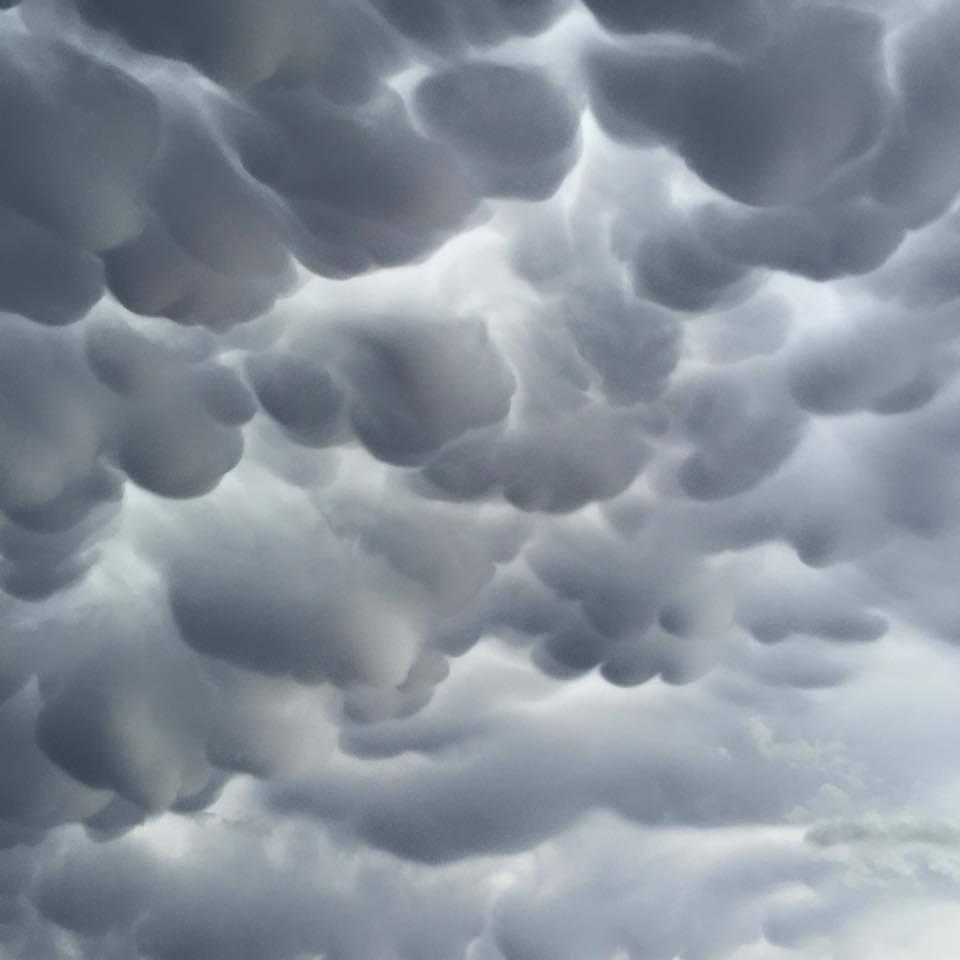 Amazing mammatus clouds near McLean tx!